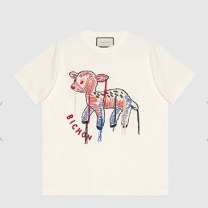 Gucci T-shirt with fawn patch off-white